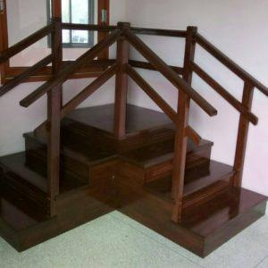 บันไดเข้ามุม 2 ทาง (แบบ 3 ขั้น)  /  2-way corner staircase (3 steps)